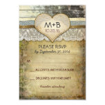 country wedding RSVP cards Invite