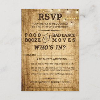Country wedding RSVP for rustic wedding