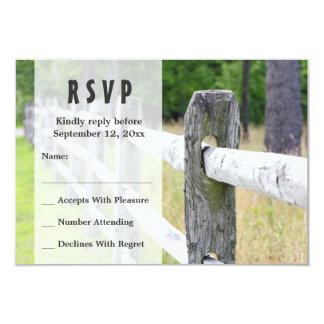 Country Wedding RSVP Invitations