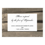 Country Wedding RSVP Response Card Business Card Template
