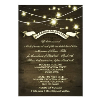 country wedding rustic accommodations cards