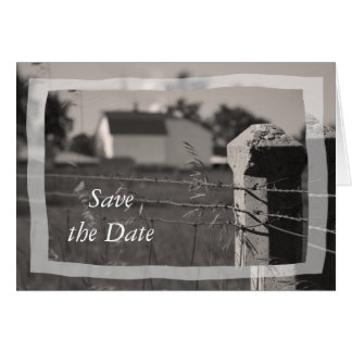Country Wedding Save the Date Announcement Greeting Card