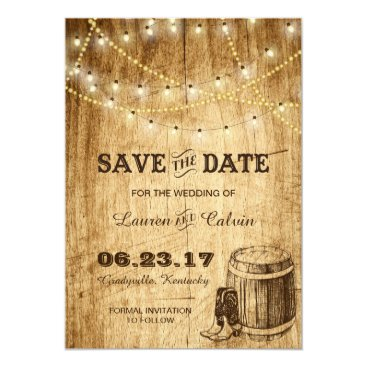 langdesignshop Country wedding Save the Date Card