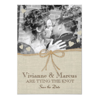 Country Wedding Save the Date Custom Invitation