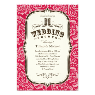 Country Wedding Shower Invitations