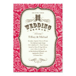 "Country Wedding Shower Invitations 5"" X 7"" Invitation Card"