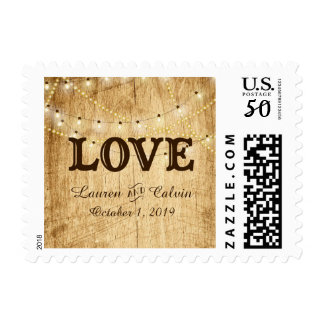 Country Wedding stamp with LOVE