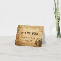 Country Wedding Thank You Card for Rustic Wedding