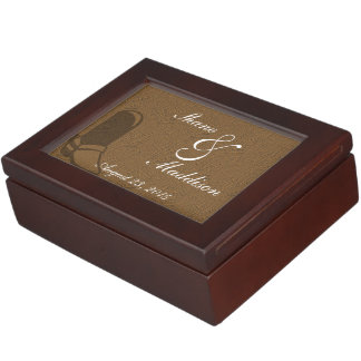Country Wedding Theme Keepsake Box