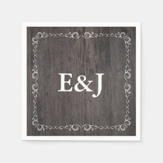 Country Wedding Wood Wedding Napkins