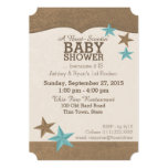 Country Western Baby Shower Announcement