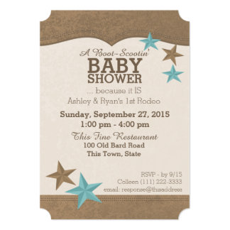 Country Western Baby Shower Card