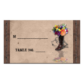 Country Western Barbed Wire Wedding Place Cards Business Card