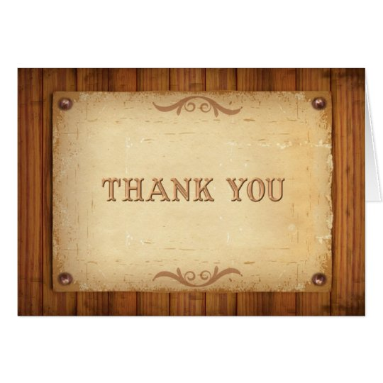 Country Western Barn Wood Thank You Cards Zazzle