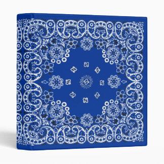 Country Western Blue Bandana Binder Notebook