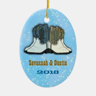 Country Western Boots First Christmas Ornament