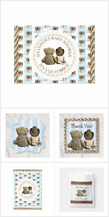 Country & Western Boy's Baby Shower