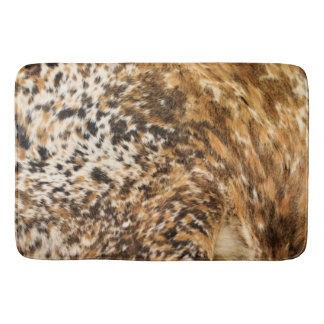Country Western Chic Swirl Cow Hide Prints Bathroom Mat