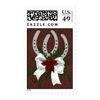 Country Western Christmas Holiday Stamps