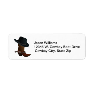 Country Western Cowboy Boot Hat Spurs Personalized Label