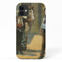 Country western cowboy cowgirl horse farm vintage iPhone 11 case