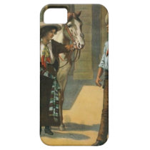Country western cowboy cowgirl horse farm vintage iPhone SE/5/5s case