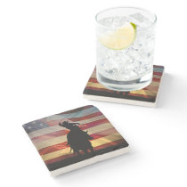 Country Western Cowboy  Drink Stone Coaster