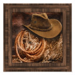 Country Western Cowboy Hat Poster