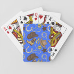 """Country Western cowboy pattern playing cards<br><div class=""""desc"""">design by www.scrappindoodles.com</div>"""