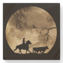 Country Western Cowboy Stone Coaster
