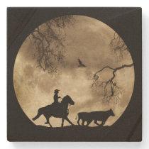 Country Western Cowboy Stone Coaster