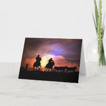Country Western Cowboy Thank You Card