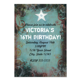 Country Western Cowgirl Sweet 16 Invitation