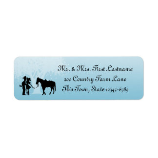 Country Western Fairy Tale Label