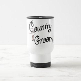 Country Western Groom Travel Mug