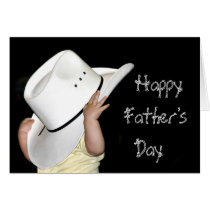 Country Western Happy Fathers Day Card