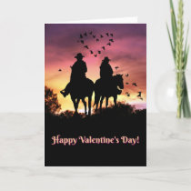 Country Western Happy Valentine's Day Card