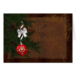 Country Western Holiday Christmas Card
