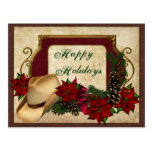Country Western Holiday Postcards