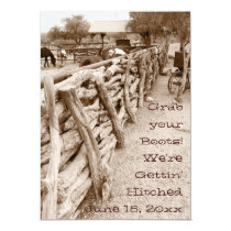 Country Western Horse Corral Wedding Invitations