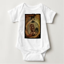 country western horse cowboy boot Lasso Rope Baby Bodysuit