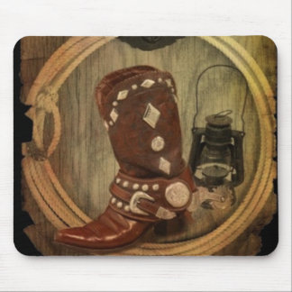 country western horse cowboy boot Lasso Rope Mouse Pad