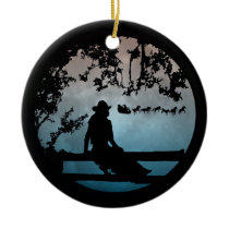 Country Western Horse Sleigh Xmas Ornament