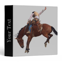 Country Western horseback Riding Rodeo Cowboy 3 Ring Binder
