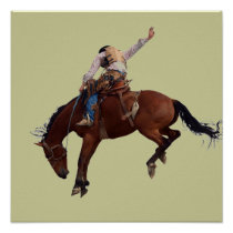 Country Western horseback Riding Rodeo Cowboy Poster