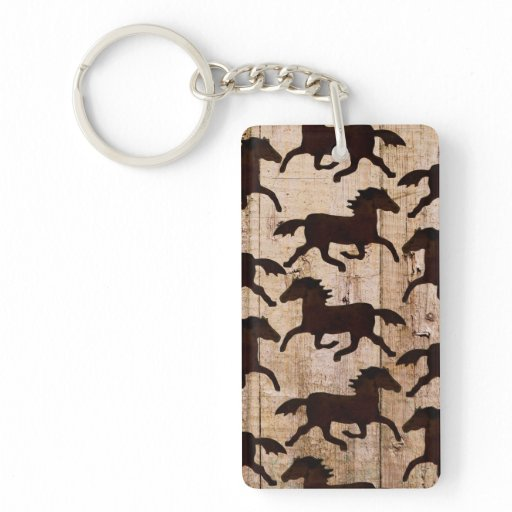 Country Western Horses On Barn Wood Cowboy Gifts Double