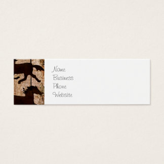 Country Western Horses on Barn Wood Cowboy Gifts Mini Business Card