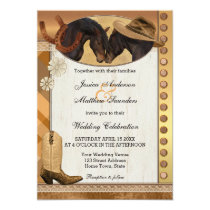 Country Western Horses Wedding Invitation