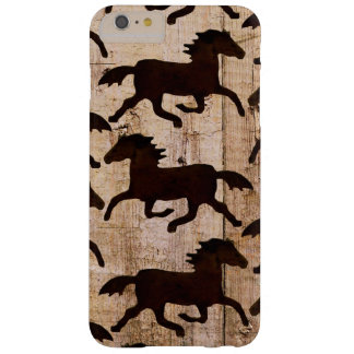 Country Western Horses Wood iPhone 6 Plus Case