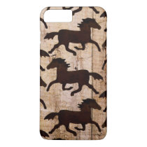 Country Western Horses Wood iPhone 7 Plus Case